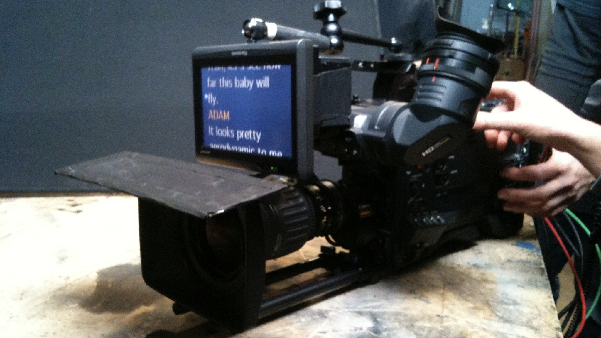 Camera with Teleprompter