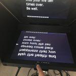High Brightness Script Mirror