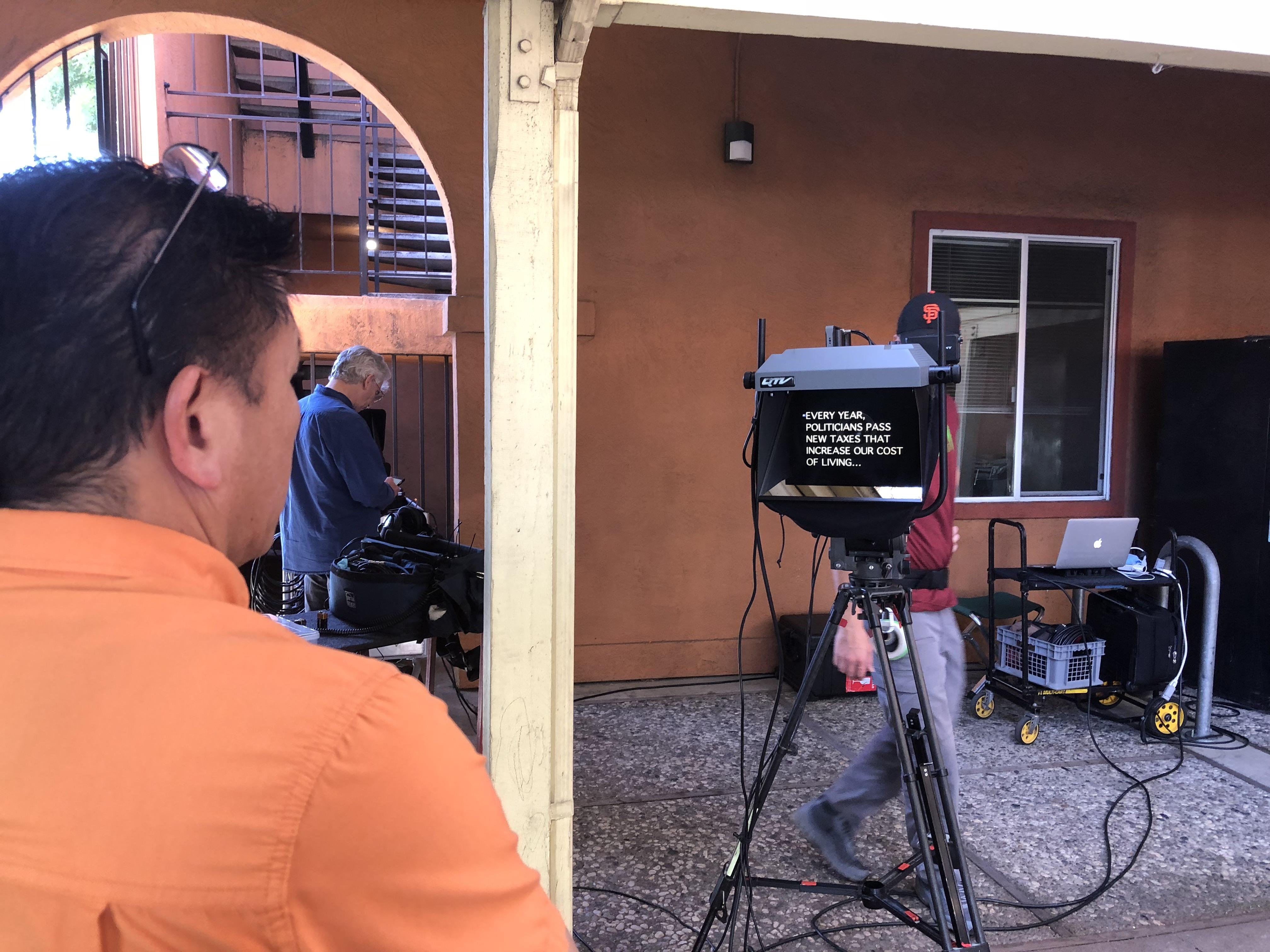 On-Camera Location Talking Head
