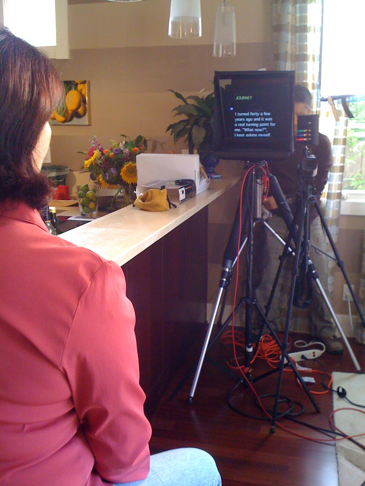 Interview Style Teleprompter